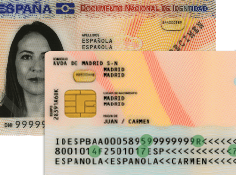 Spanish ID cards, evolution and meaning of DNI 3 0 fields